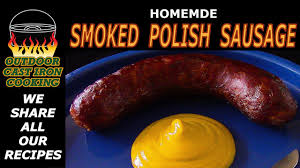 homemade smoked polish sausage you