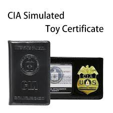 cia police pretend toy badge wallet
