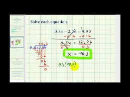 solve decimal equations s