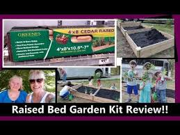 Raised Bed Gardening Kit Review Home Depot Greenes Fence Company 4 X 8 Cedar Garden Kits Youtube