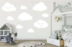 Cloud Stickers For Nursery Wall Or Home Decorating 3 Big Etsy Nursery Wall Decals Cloud Wall Decal Baby Room Decor