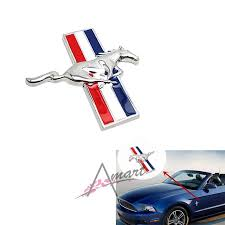 High Quality 3d Horse Wing Decals Car Hood Emblem Sticker Metal Silver Stickers