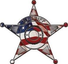 Sheriff Star Police Decal With American Flag Weston Signs