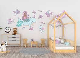 Narwhal Mermaid Kidz N Clan Decor Wall Stickers