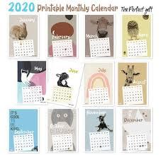 2020 Kids Printable Monthly Calendar Cute Kids Room Poster Etsy In 2020 Room Posters Kids Room Poster Monthly Calendar