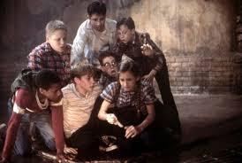 Jonathan Brandis, Seth Green, Brandon Crane, Adam Faraizl, Ben Heller,  Emily Perkins, and Marlon Taylor in It (1990) | Jace