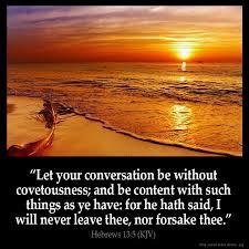 Image result for Hebrews 13:5