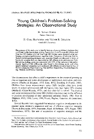 PDF) Young children's problem-solving strategies: An observational study    H. Carl Haywood and Victor Delclos - Academia.edu