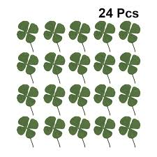 24pcs Four Leaf Clover Dried Lucky Clover Phone Case Decals Jewelry Accessories Diy Materials Art Sticker For Necklace Bracelet Diy Craft Supplies Aliexpress