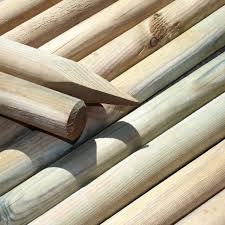 20 X 1 5m 5ft 40mm Dia Round Wooden Fence Posts Stakes Pressure Treated For Sale Ebay