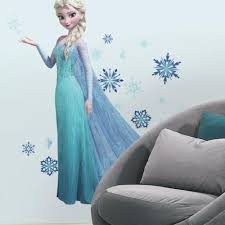 Frozen Elsa Giant Wall Decals With Glitter Roommates Decor
