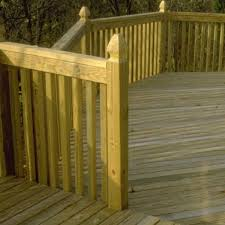 Unbranded 4 In X 4 In X 9 Ft Pressure Treated Pine Gothic Fence Post 0670554 The Home Depot