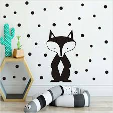 Online Shop Black Woodland Animals Wall Sticker Removable Vinyl God Tribal Fox Wall Decals For Kids Room Nursery Art Stickers Home Decor Aliexpress Mobile