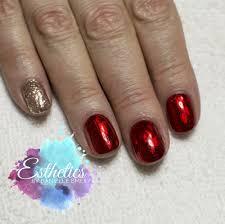 red foil nails akzentz gel play 24k
