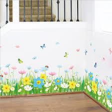 Beautiful Fantasy Flowers 3d Wall Sticker Fresh Green Grass Butterfly Stickers Children Rooms Decals Kids Nursery Poster Wall Graphics Wall Graphics Stickers From May8888 12 29 Dhgate Com