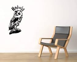 Amazon Com Harry Potter Vinyl Wall Decals Owl Hedwig Book Film The Boy Who Survived Decal Sticker Vinyl Murals Decors Il1249 Home Kitchen