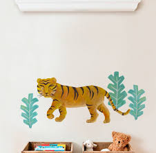 Harriet Bee Barga Tiger Wild Animals Tropical Leaves Wall Decal Wayfair