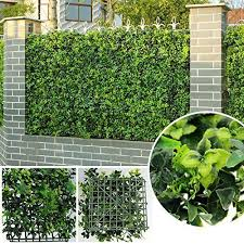 Artificial Grass Privacy Fence Panels Faux Ivy Wall Cover Screening 6pcs 20 X20 Uland Garden Fence Panels Artificial Hedges Artificial Grass Wall