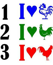 I Love Heart Cock Rooster Window Wall Decal Farm Truck Trailer Barn Sticker Ebay