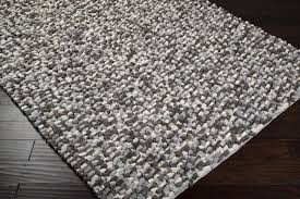 flg1000 black gray plush area rug