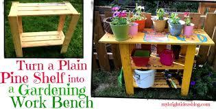 make a garden work bench potting