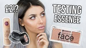 testing essence makeup full face