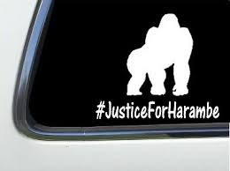Thatlilcabin Justice For Harambe 6 As515 Sticker Decal Ebay