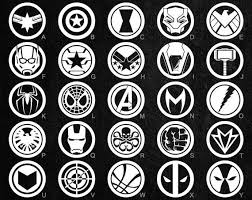 Marvel Avengers Vinyl Decals 26 To Choose From Stickers Etsy In 2020 Avengers Symbols Marvel Avengers Avengers