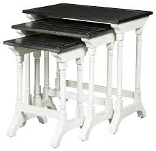 3 piece carriage house nested table set