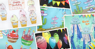 birthday bulletin board ideas