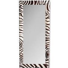 zebra hide floor mirror products
