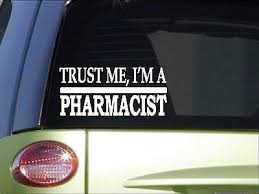 Amazon Com Brandvinyl Trust Me Pharmacist 8 Inch Sticker Decal Drugs Syringe Pharmacy Pills Home Kitchen