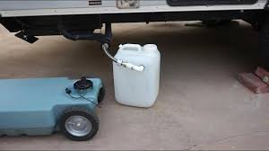 diy portable gray water tank for