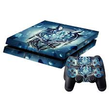 Wolf Pattern Protective Skin Sticker Cover Skin Sticker For Ps4 Game Console 25 Etoren Com
