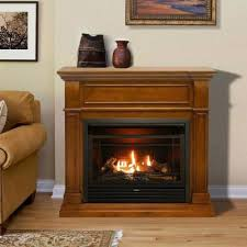 full size ventless dual fuel fireplace