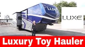 luxe 44fb toy hauler fifth wheel