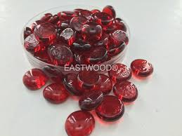 rose red fire beads firepit glass company