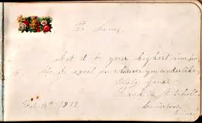 Heirlooms Reunited: 1870s/1880s Autograph Album of Lena May Mitchell of  Lewiston, Maine