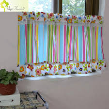 Striped Valance Curtains Multicolor Canopy Window Fringe Curtain Kitchen Door Short Curtains For Kids Bedroom Roman Blinds Stripe Valance Curtains Curtains Forcurtains For Kids Aliexpress