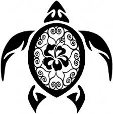 Sea Turtle Swirl Hearts Hibiscus Flower Car Or Truck Window Decal Sticker Rad Dezigns