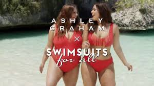 Ashley Graham & Her Sister for Swimsuits For All Campaign - YouTube