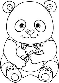 Tranh tô màu gấu trúc rất đẹp cho bé | Gấu trúc với nhiều nét vẽ đẹp -  Jadiny