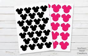 Disney Minnie Mouse Vinyl Decal Stickers Magic Kingdom Etsy