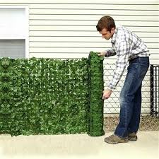 0 5 1m Artificial Hedge Leaves Faux Lvy Leaf Privacy Fence Screen For Garden Backyard Green Fence Mesh Artificial Balcony Fence Artificial Plants Aliexpress
