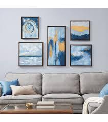 golds abstract 5 piece framed wall art
