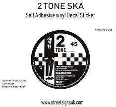 2 Tone Ska Record Label Decal Sticker Wall Art Comes In Various Sizes Sticker Wall Art Stickers Vinyl Decal Stickers