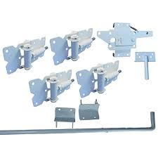 Self Closing Vinyl Fence Gate Double Gate Hardware Kit White For Vinyl Pvc Etc Fencing Double Fence Gate Kit Has 4 Hinges 1 Latch And 1 Drop Rod Amazon In Home Improvement