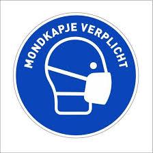 bol.com | Mondkapje verplicht sticker - corona sticker - gebod ...