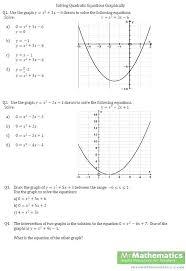 solving quadratic equations worksheet