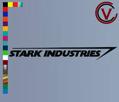 Stark Industries Decal Crooked Cuts Vinyl
